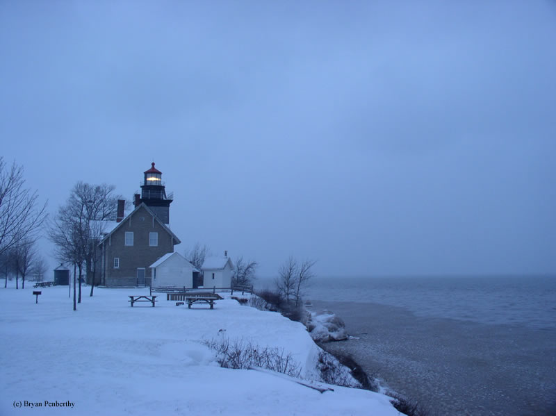 Photo of the Thirty Mile Point Lighthouse.
