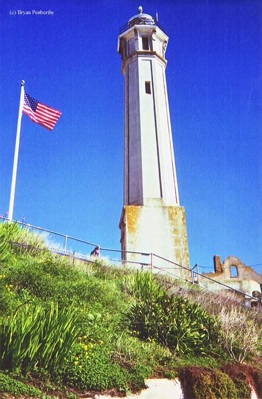 Photo of the Alcatraz Island Lighthouse.