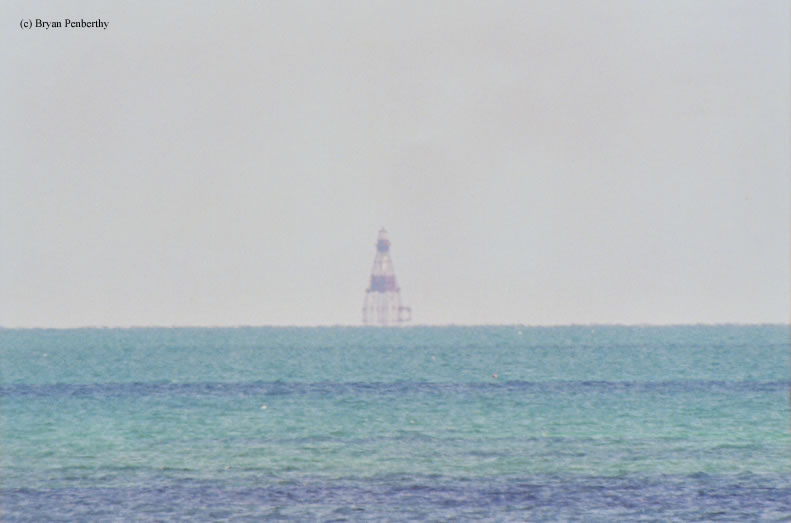 Photo of the American Shoal Lighthouse.