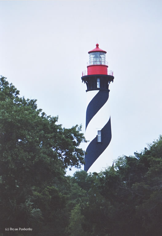 Photo of the St. Augustine Lighthouse.
