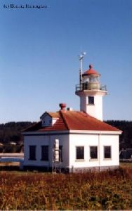 Side view of the lighthouse.