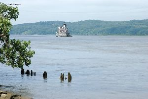The lighthouse in the Hudson River.