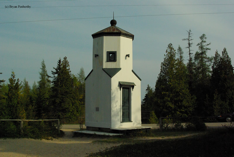 Photo of the Baileys Harbor Front Range Lighthouse.