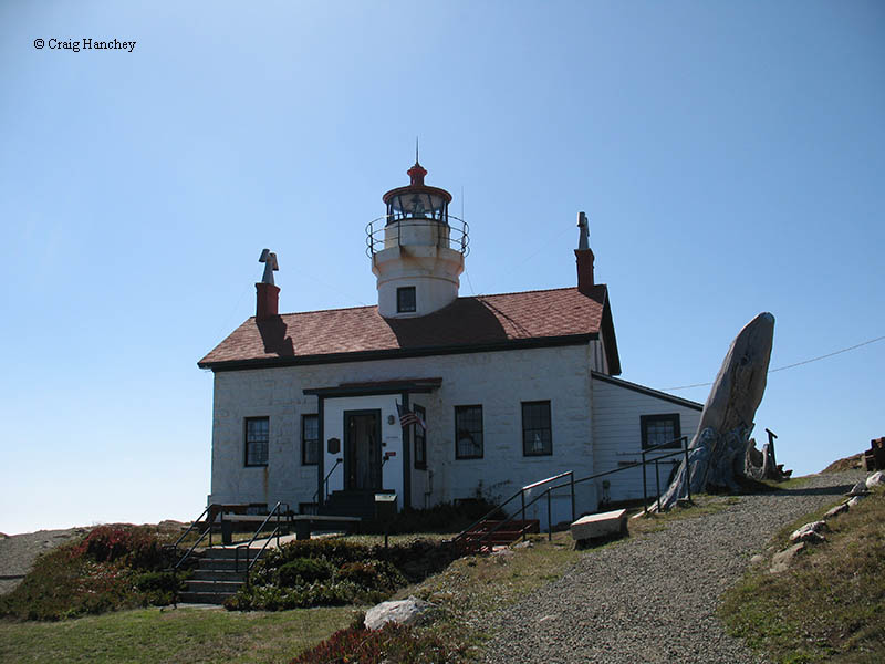 Photo of the Battery Point Lighthouse.