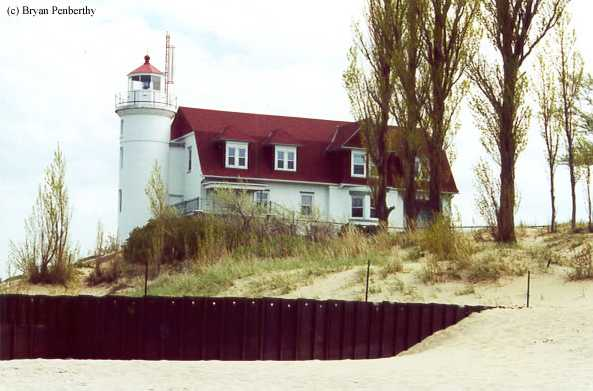 Photo of the Point Betsie Lighthouse.