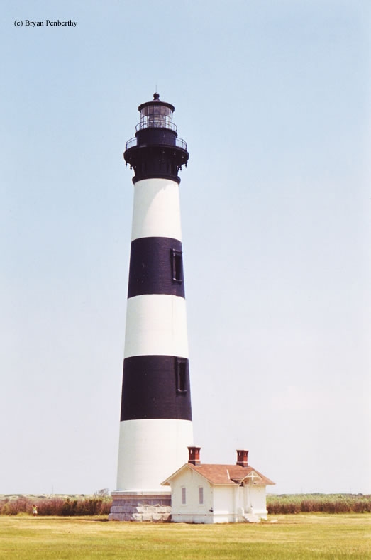 Photo of the Bodie Island Lighthouse.
