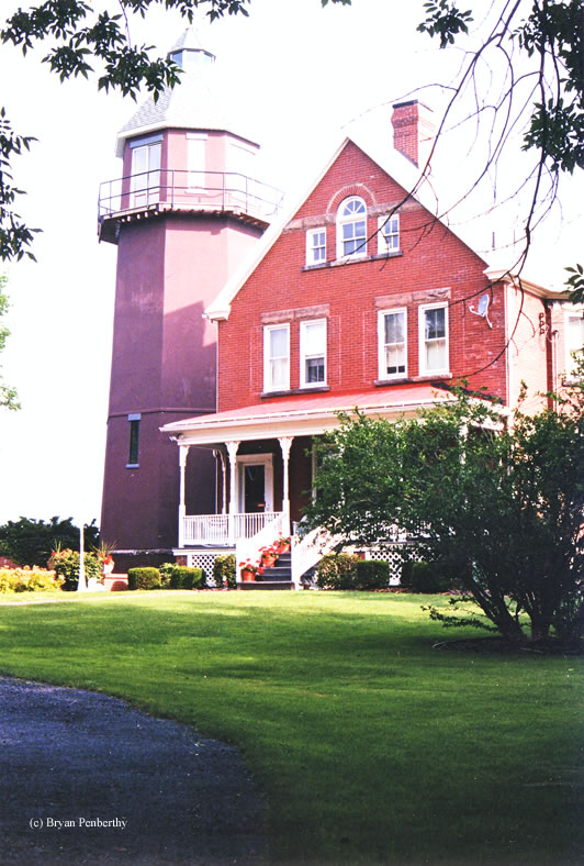 Photo of the Braddock Point Lighthouse.