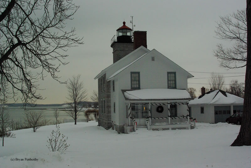 Photo of the Sodus Bay Lighthouse.