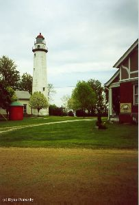 The lighthouse as viewed from the driveway.