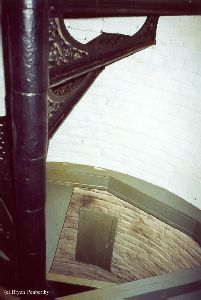 The stairs leading up into the tower.