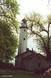Lighthouse and keeper