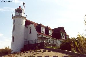 A more frontal view of the lighthouse.