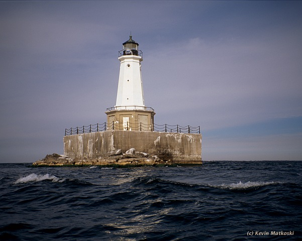 Photo of the East Charity Shoal Lighthouse.
