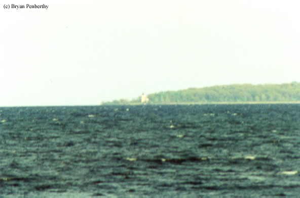 Photo of the Charity Island Lighthouse.