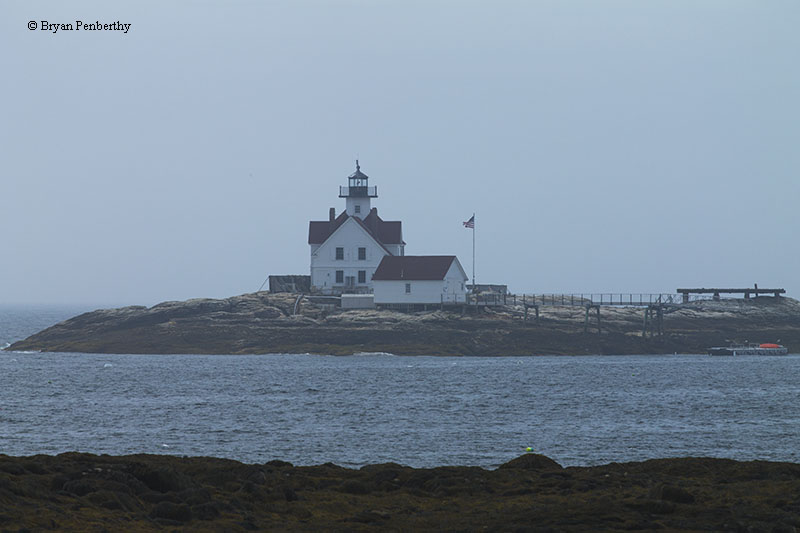 Photo of the Cuckolds Lighthouse.
