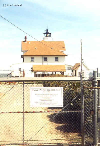 Photo of the Cove Point Lighthouse.