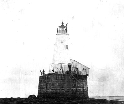 U.S. Coast Guard Archive Photo of the Whaleback Ledge Lighthouse taken in 1847