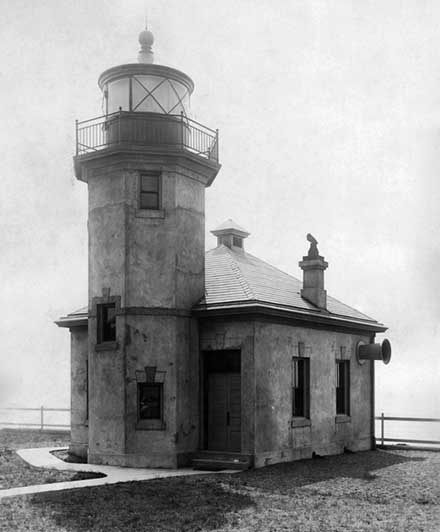 U.S. Coast Guard Archive Photo of the Alki Point Lighthouse