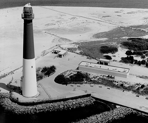 U.S. Coast Guard Archive Photo of the Barnegat Inlet Lighthouse