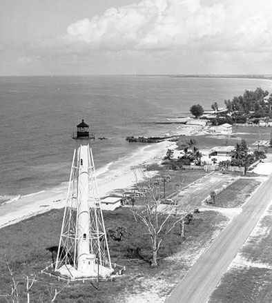 U.S. Coast Guard Archive Photo of the Boca Grande Rear Range Lighthouse