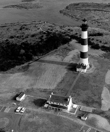 U.S. Coast Guard Archive Photo of the Bodie Island Lighthouse