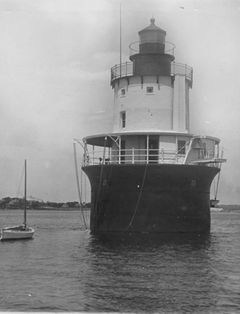 U.S. Coast Guard Archive Photo of the Butler Flats Lighthouse