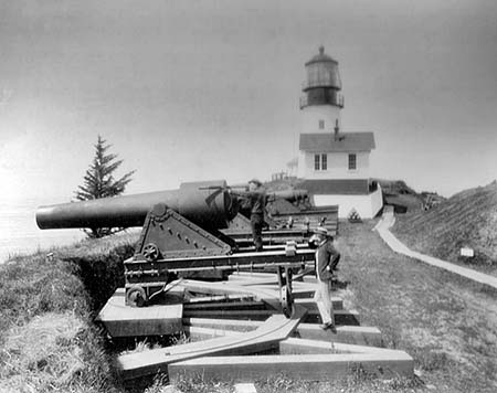 U.S. Coast Guard Archive Photo of the Cape Disappointment Lighthouse