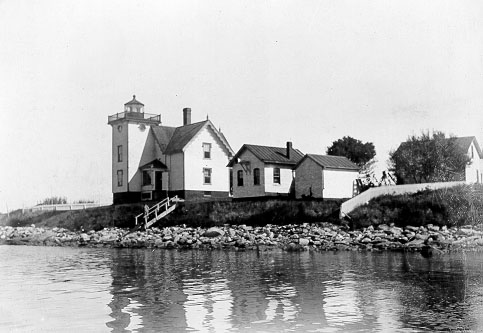 U.S. Coast Guard Archive Photo of the Conanicut Island Lighthouse