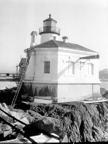 U.S. Coast Guard Archive Photo of the Coquille River Lighthouse