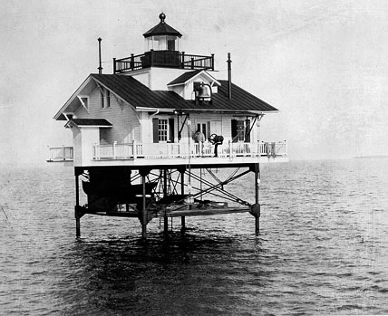 What the 1866 Roanoke River Lighthouse would have looked like