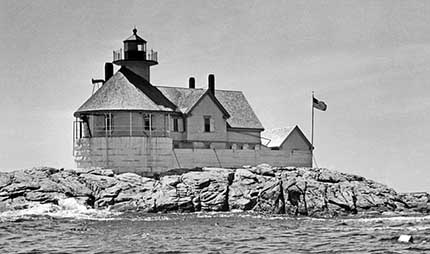 U.S. Coast Guard Archive Photo of the Cuckolds Lighthouse