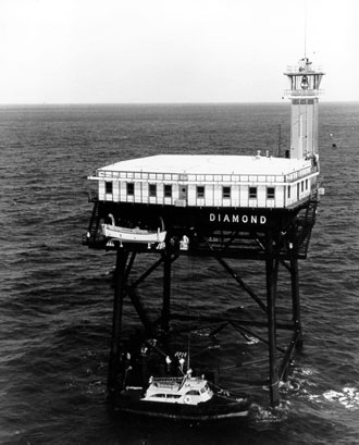 Diamond Shoals Light Tower courtesy Coast Guard