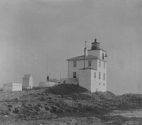 U.S. Coast Guard Archive Photo of the Dutch Island Lighthouse