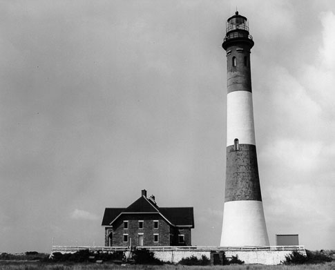 U.S. Coast Guard Archive Photo of the Fire Island Lighthouse