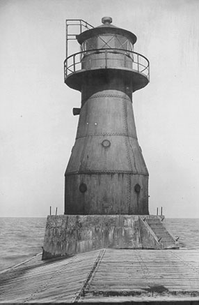 U.S. Coast Guard Archive Photo of the Gary Harbor Breakwater Lighthouse