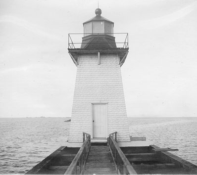 U.S. Coast Guard Archive Photo of the Grassy Island Lighthouse