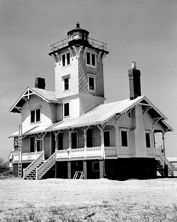 U.S. Coast Guard Archive Photo of the Hereford Inlet Lighthouse