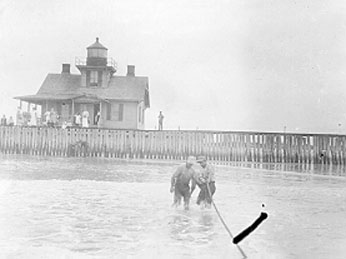 U.S. Coast Guard Archive Photo of the Ludlam Beach Lighthouse