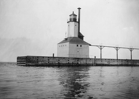 U.S. Coast Guard Archive Photo of the Michigan City East Pierhead Lighthouse