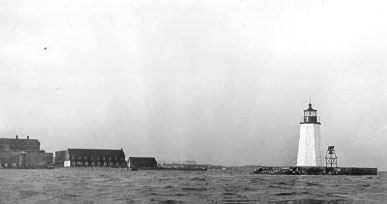 U.S. Coast Guard Archive Photo of the Newport Harbor Lighthouse