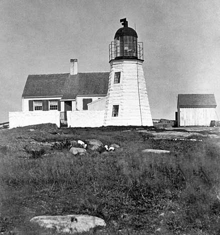 U.S. Coast Guard Archive Photo of the Ten Pound Island Lighthouse