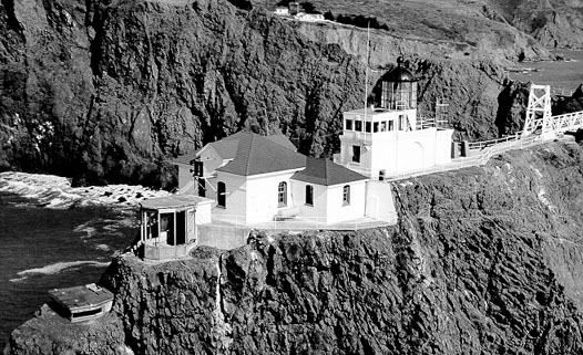 U.S. Coast Guard Archive Photo of the Point Bonita Lighthouse