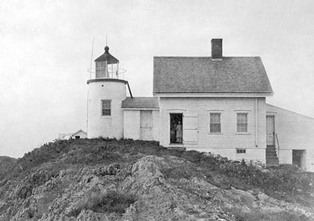 U.S. Coast Guard Archive Photo of the Pond Island Lighthouse