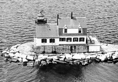 U.S. Coast Guard Archive Photo of the Rockland Breakwater Lighthouse