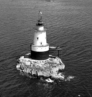 U.S. Coast Guard Archive Photo of the Sakonnet Lighthouse