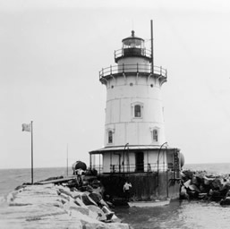 U.S. Coast Guard Archive Photo of the Saybrook Breakwater Lighthouse