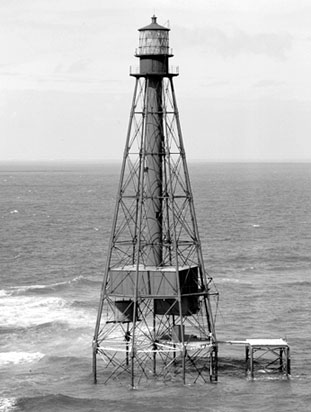 U.S. Coast Guard Archive Photo of the Sombrero Key Lighthouse