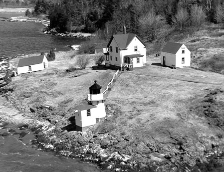 U.S. Coast Guard Archive Photo of the Squirrel Point Lighthouse