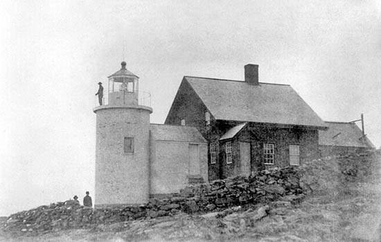 U.S. Coast Guard Archive Photo of the Tenants Harbor Lighthouse