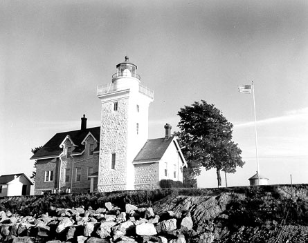U.S. Coast Guard Archive Photo of the Thirty Mile Point Lighthouse